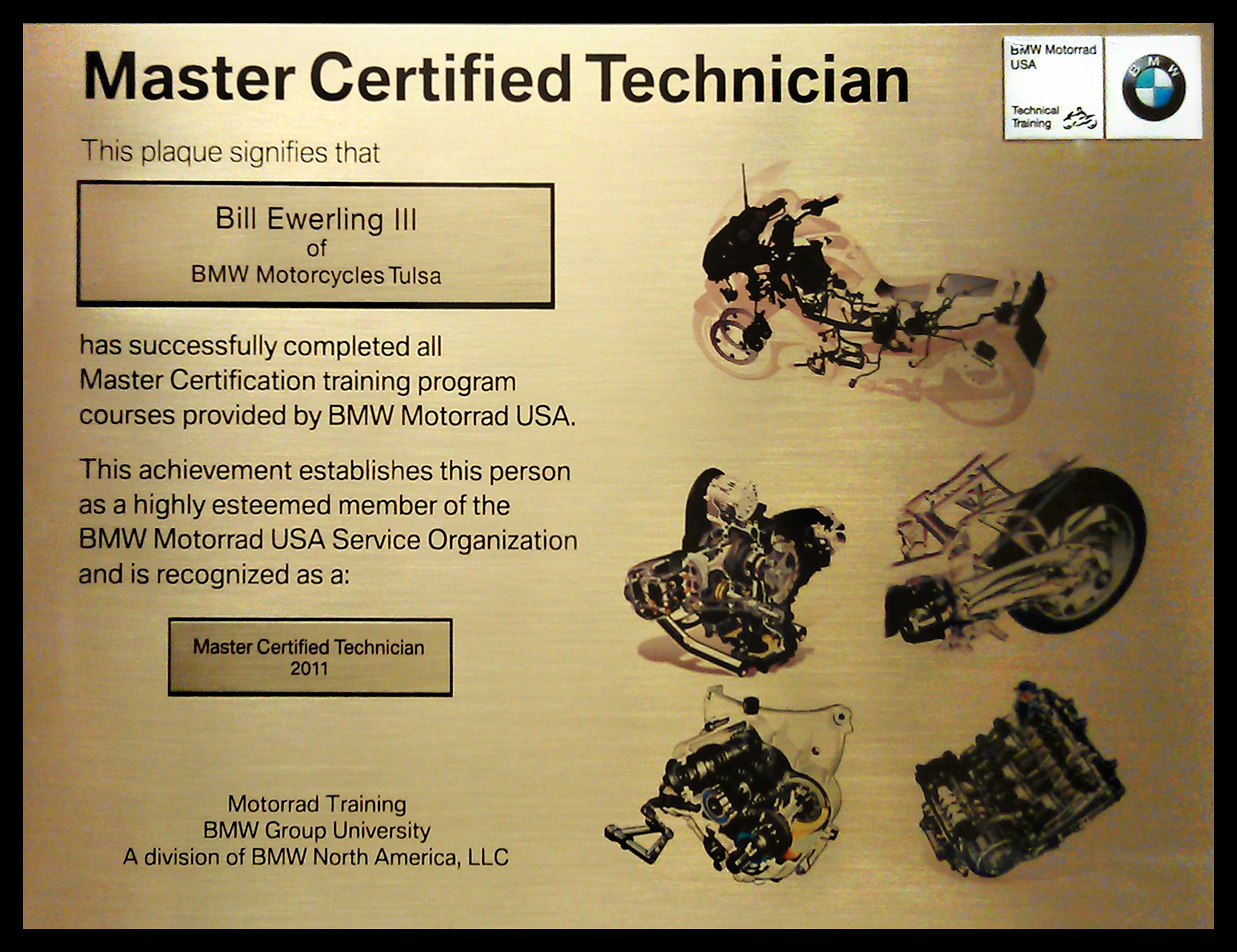 Bmw motorcycle sales tel 9183070477 toll free 8882192252 our certified master technicians 2011 training awards xflitez Gallery
